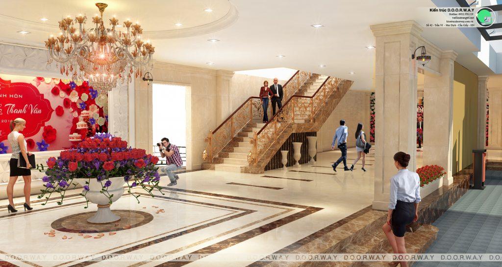 Thiết kế nhà hàng tiệc cưới Sơn Nam 2100m2 by kiến trúc Doorway góc 01