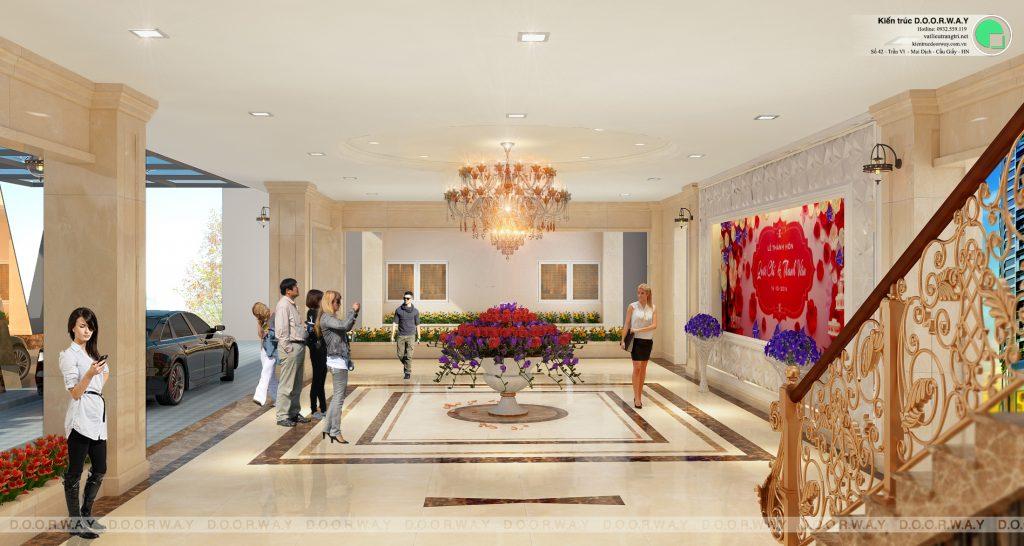 Thiết kế nhà hàng tiệc cưới Sơn Nam 2100m2 by kiến trúc Doorway góc 02