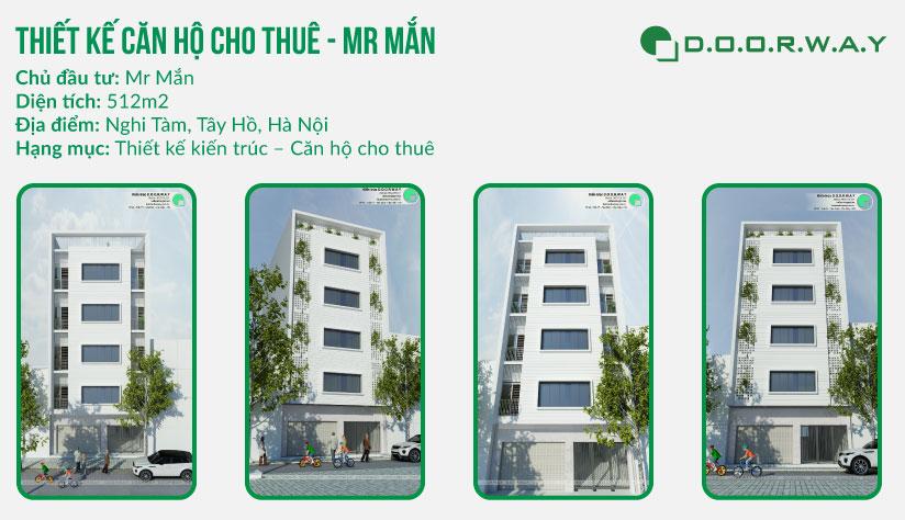 Thiết kế căn hộ cho thuê 5 tầng 500m2 – Mr. Mắn by Doorway