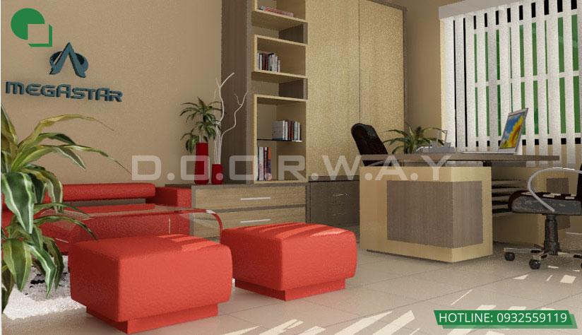 Thiết kế nội thất văn phòng 300m2 Megastar by kiến trúc Doorway, phòng trưởng ban