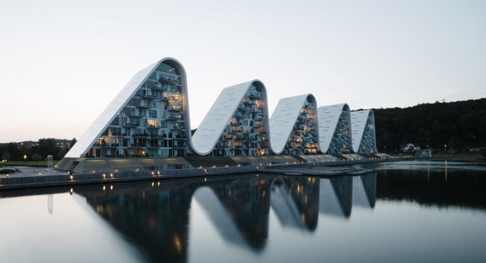 Kiến trúc căn hộ cao cấp The Wave tại Đan Mạch by kiến trúc Doorway ảnh tiêu biểu