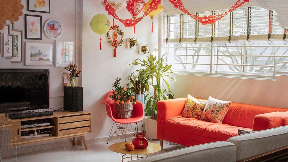 Trang trí nội thất phòng khách chào đón năm mới 2019 by kiến trúc Doorway ảnh tiêu biểu