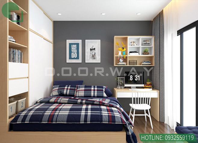 Thiết kế nội thất nhà ở liền kề tại Happy Land Đông Anh by kiến trúc Doorway phòng ngủ 03