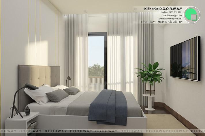 Thiết kế nội thất nhà ở liền kề tại Happy Land Đông Anh by kiến trúc Doorway phòng ngủ 04 góc 1