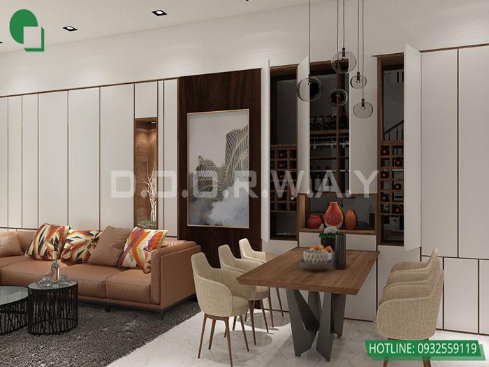 1-PK phương án thiết kế nội thất căn hộ 2 phòng ngủ Mỹ Đình Pearl