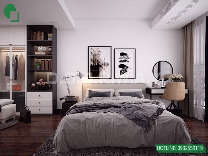 4-PN1 phương án thiết kế nội thất căn hộ 2 phòng ngủ Mỹ Đình Pearl