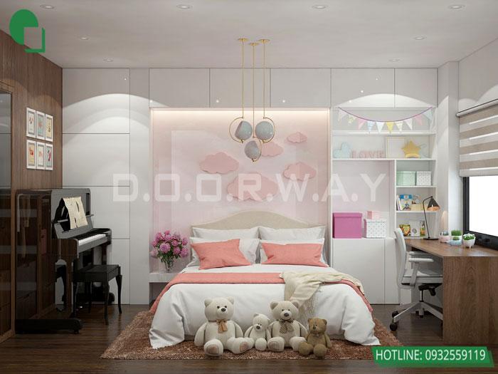 5-PN2 phương án thiết kế nội thất căn hộ 2 phòng ngủ Mỹ Đình Pearl