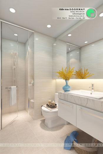 6-WC phương án thiết kế nội thất căn hộ 2 phòng ngủ Mỹ Đình Pearl