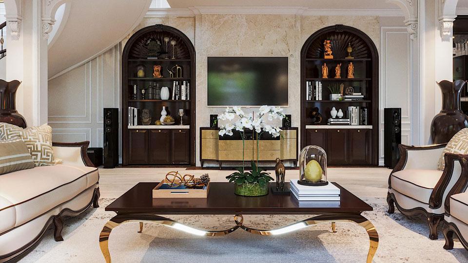 Tại sao nên chọn thiết kế nội thất biệt thự tân cổ điển, có 3 lý do.