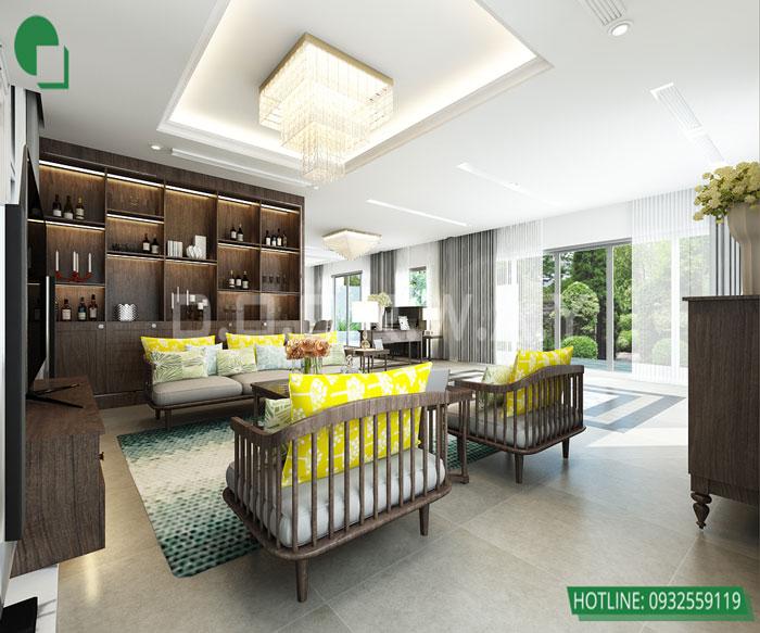 Thiết kế nội thất căn hộ 4 phòng ngủ The Manor Central Park by kiến trúc Doorway, thiết kế nội thất phòng khách