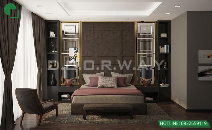 Thiết kế nội thất căn hộ 4 phòng ngủ The Manor Central Park by kiến trúc Doorway, thiết kế nội thất phòng ngủ master hơn 20m2 góc 01