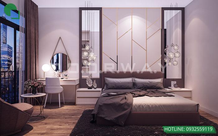 Thiết kế nội thất căn hộ 4 phòng ngủ The Manor Central Park by kiến trúc Doorway, thiết kế nội thất phòng ngủ 01