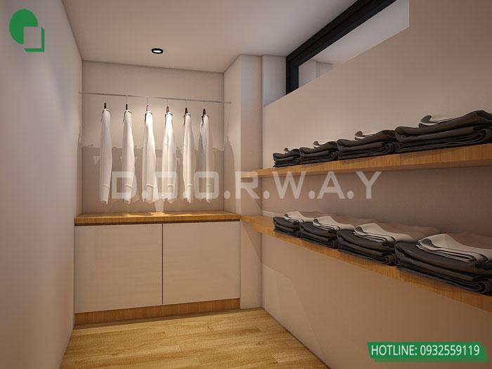 Thiết kế nội thất căn hộ 4 phòng ngủ The Manor Central Park by kiến trúc Doorway, thiết kế nội thất phòng thay đồ đẹp