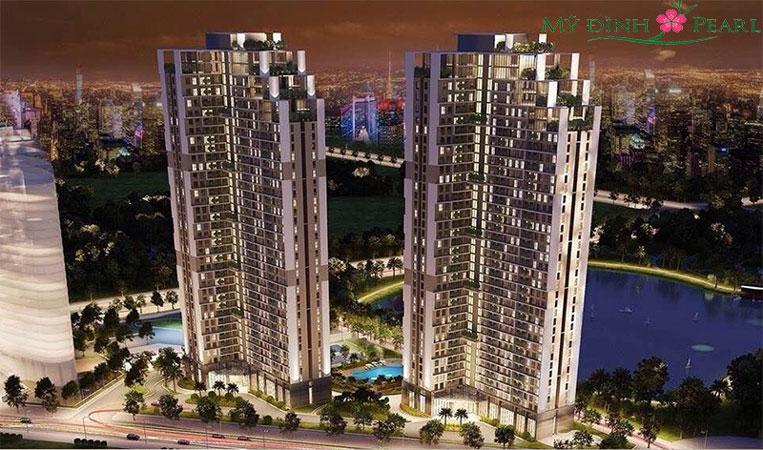 toàn cảnh - thiết kế căn hộ 50m2 1 phòng ngủ Mỹ Đình Pearl - Nội thất chung cư đẹp by kiến trúc Doorway