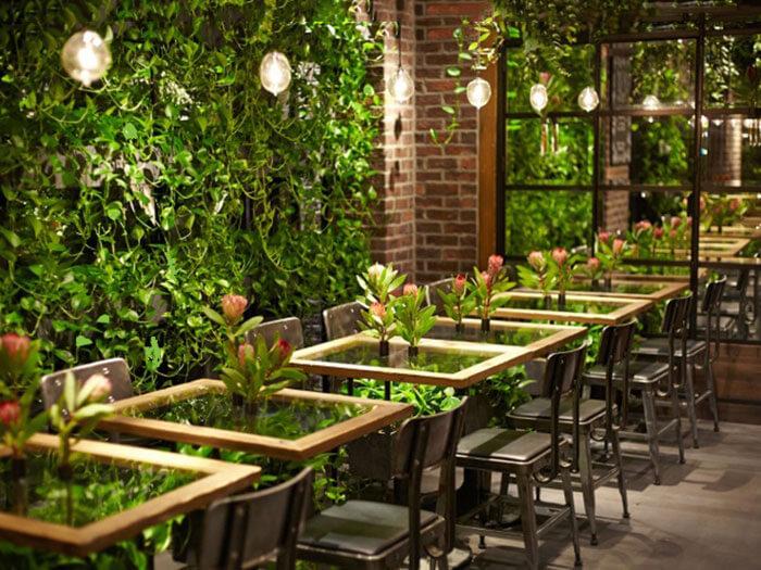 1- sân vườn3 - 10 mẫu & ý tưởng thiết kế quán cafe nhỏ giá rẻ đẹp nhất 2019