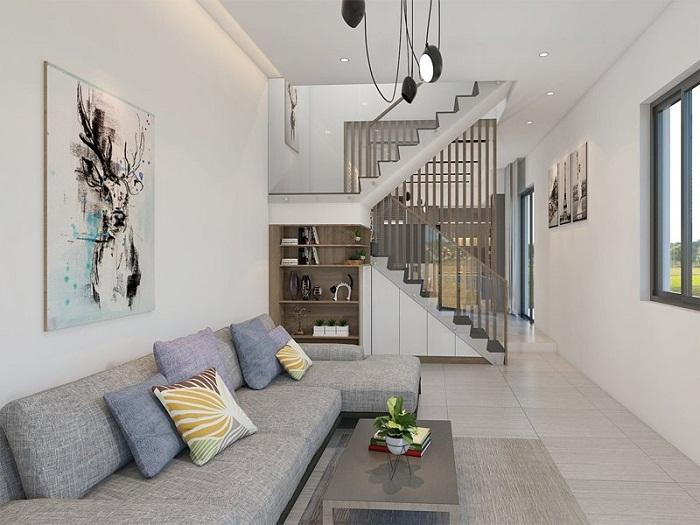 1- Bí quyết thiết kế nội thất phòng khách nhà ống thông thoáng