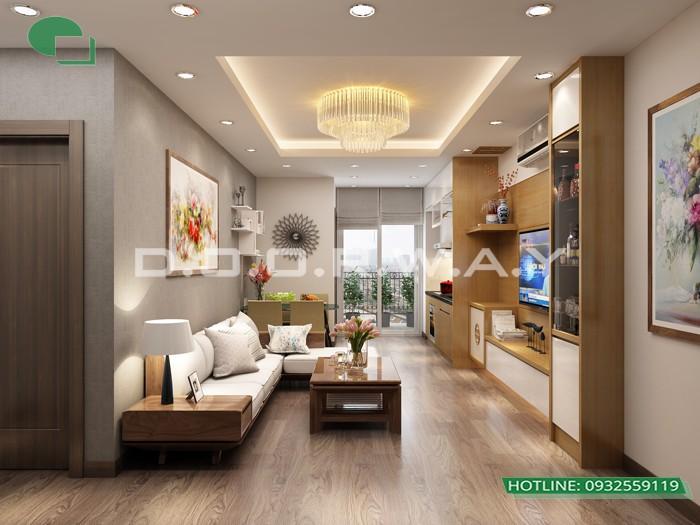 2- Tư vấn thiết kế nội thất phòng khách hẹp cho không gian thoáng mát