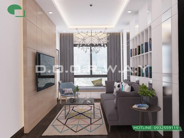 3- Tư vấn thiết kế nội thất phòng khách hẹp cho không gian thoáng mát