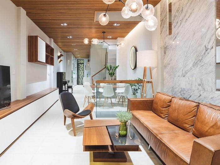 3- Bí quyết thiết kế nội thất phòng khách nhà ống thông thoáng