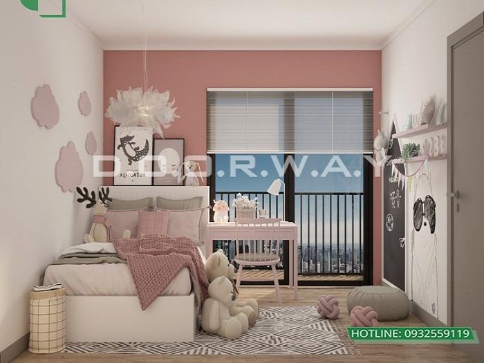 4- Tư vấn thiết kế nội thất căn hộ 65m2 2 phòng ngủ hiện đại từ Doorway