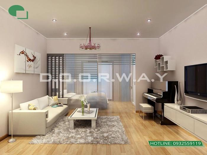 4- Tư vấn thiết kế nội thất phòng khách hẹp cho không gian thoáng mát