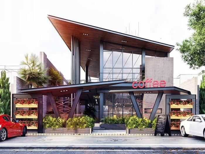 5- cafe khung thép 2 - 10 mẫu & ý tưởng thiết kế quán cafe nhỏ giá rẻ đẹp nhất 2019