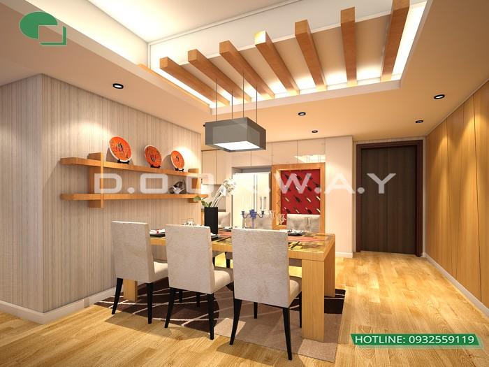 5- Tư vấn thiết kế nội thất căn hộ 65m2 2 phòng ngủ hiện đại từ Doorway