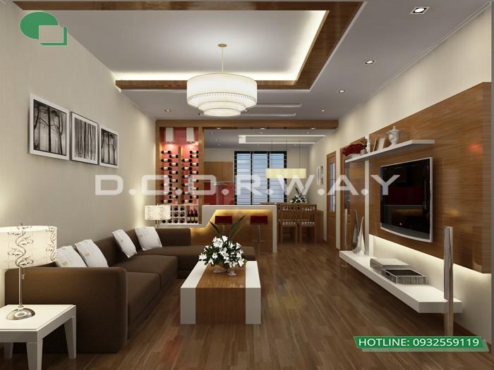 5- Tư vấn thiết kế nội thất phòng khách hẹp cho không gian thoáng mát