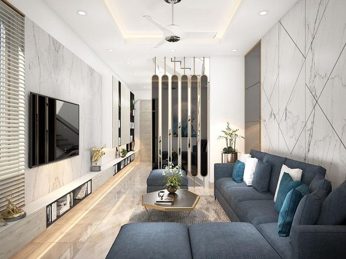 5- Bí quyết thiết kế nội thất phòng khách nhà ống thông thoáng