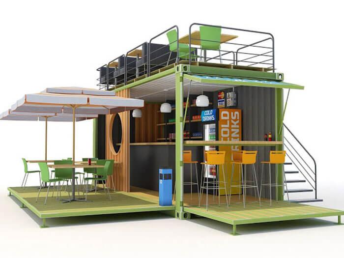 6- cafe container 2 - 10 mẫu & ý tưởng thiết kế quán cafe nhỏ giá rẻ đẹp nhất 2019