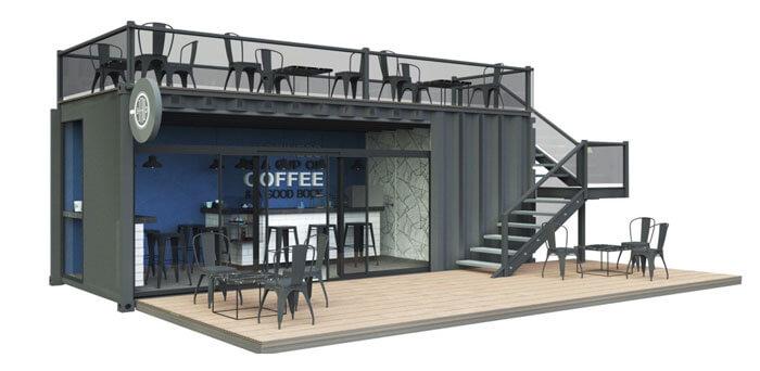 6- cafe container 3 - 10 mẫu & ý tưởng thiết kế quán cafe nhỏ giá rẻ đẹp nhất 2019