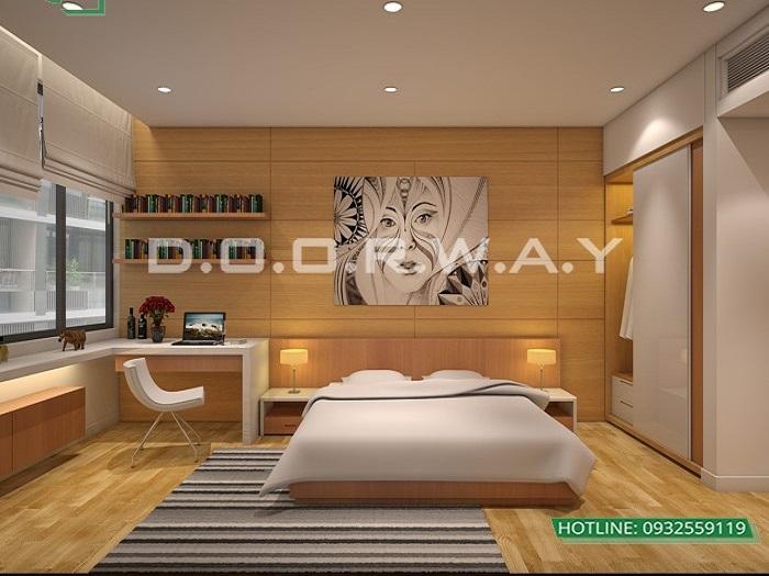 6- Tư vấn thiết kế nội thất căn hộ 65m2 2 phòng ngủ hiện đại từ Doorway