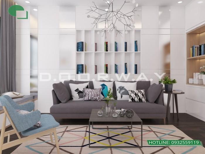 6- Tư vấn thiết kế nội thất phòng khách hẹp cho không gian thoáng mát