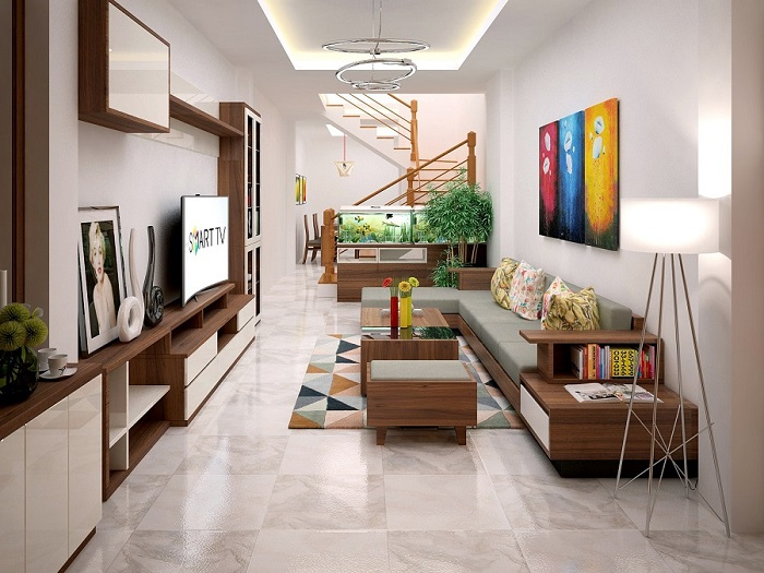 6- Bí quyết thiết kế nội thất phòng khách nhà ống thông thoáng