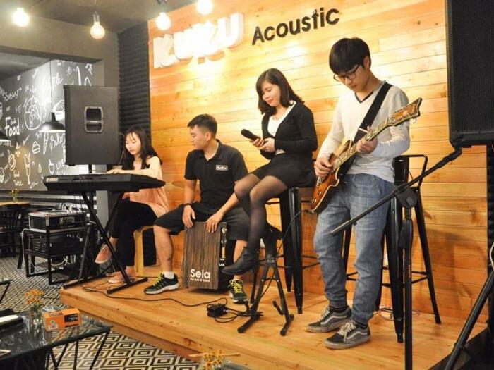 7- acoustic sách 1 - 10 mẫu & ý tưởng thiết kế quán cafe nhỏ giá rẻ đẹp nhất 2019