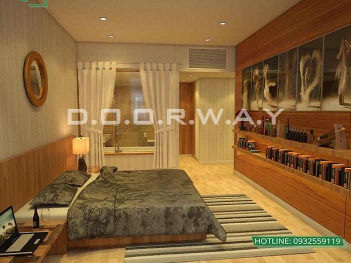 7- Tư vấn thiết kế nội thất căn hộ 65m2 2 phòng ngủ hiện đại từ Doorway
