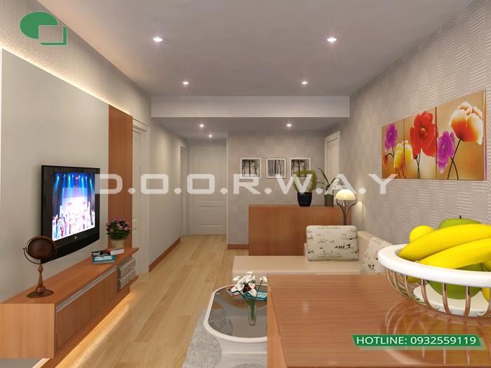 7- Tư vấn thiết kế nội thất phòng khách hẹp cho không gian thoáng mát