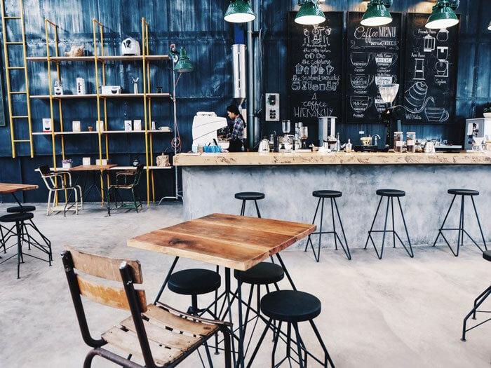 8- cát 5 - 10 mẫu & ý tưởng thiết kế quán cafe nhỏ giá rẻ đẹp nhất 2019