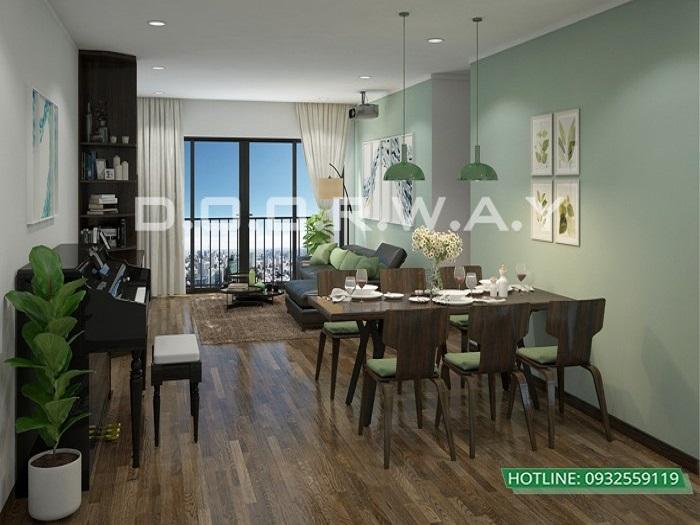 8- Tư vấn thiết kế nội thất phòng khách hẹp cho không gian thoáng mát