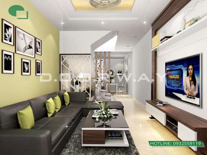 9- Tư vấn thiết kế nội thất phòng khách hẹp cho không gian thoáng mát