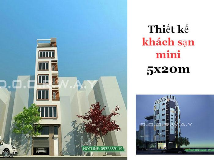 Ảnh tiêu biểu 2 - Tư vấn thiết kế khách sạn mini 5x20 hiện đại tiện nghi thu hút khách du lịch