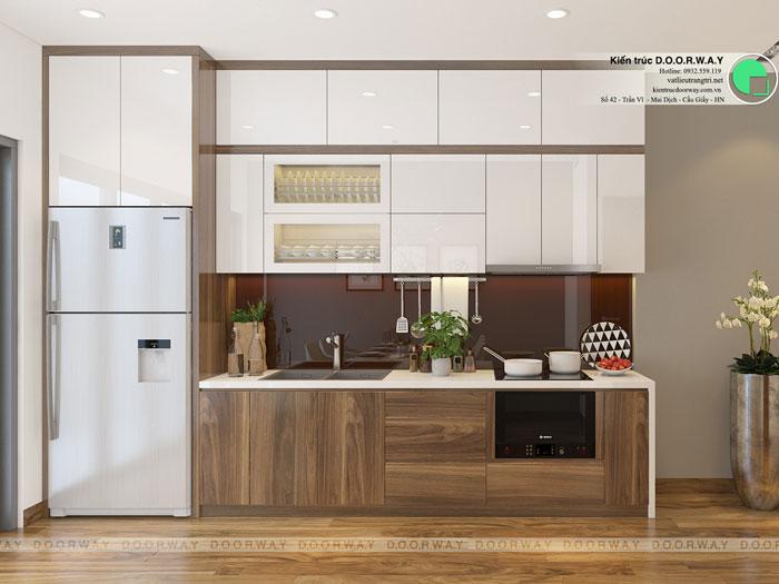 Phòng bếp - Cải tạo và thiết kế nội thất Vinhomes Metropolis Liễu Giai