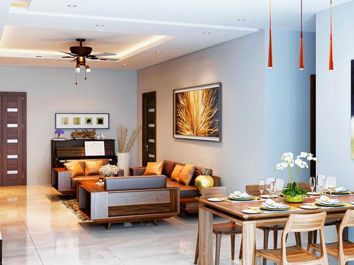 Phòng khách - Cải tạo và thiết kế nội thất Vinhomes Metropolis Liễu Giai