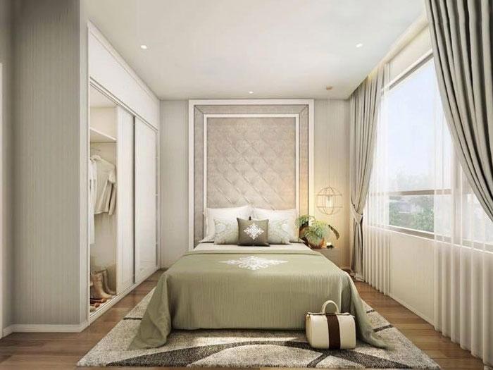 Phòng ngủ 2 - Cải tạo và thiết kế nội thất Vinhomes Metropolis Liễu Giai