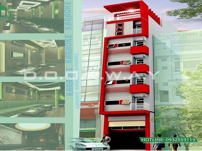 Mẫu 3 - Tư vấn thiết kế khách sạn mini 5x20 hiện đại tiện nghi thu hút khách du lịch