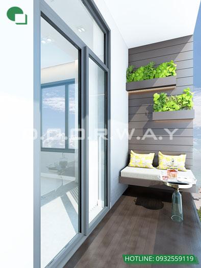 Logia- Căn hộ 1PN - Thiết kế căn hộ 63m2 Sky Park Residence