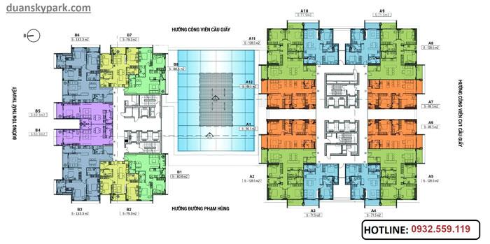 MB-tang- Tổng hợp thiết kế chung cư Sky Park Residence - Nội thất đẹp