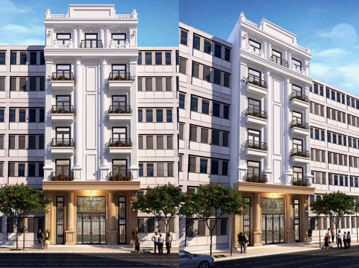 1 - 10 Mẫu thiết kế khách sạn 7 tầng đẹp hiện đại, tân cổ điển,...