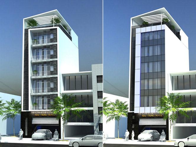 5 - 10 Mẫu thiết kế khách sạn 7 tầng đẹp hiện đại, tân cổ điển,...