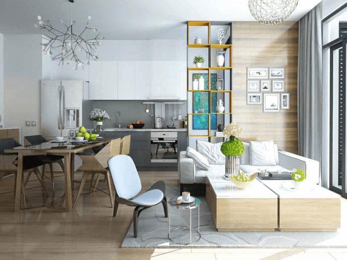Mẫu nội thất- [2019] Xem mẫu thiết kế căn hộ 61m2 FLC Green Apartment - Nội thất đẹp